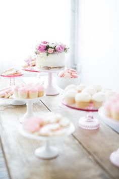 Feminine Pink and Gold Baby Shower Dessert Table with Fab Florals - yes!