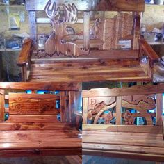 Love our customers! Thx Bob Jolly for sharing your amazing work! Here's to a productive season and thanks for inspiring us! Bob harvests the trees, mills them on his sawmill and turns them into benches, putting whatever the person wants on the back. #STEPCRAFT #CNC for vCarving on the silhouettes! Way to go Bob. #stepcraft #cnc #stepcraftcnc #cncrouter #ThinkItMakeIt #create #diy #woodworking