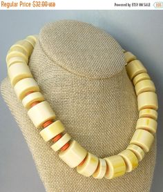 Vintage Monet Chunky Bead Mod Necklace by jujubee1 on Etsy