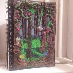 Polymer clay magical woodland journal cover / by MysticalForestUK