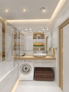 40 Of The Best Modern Small Bathrooms & Functional Toilet Design Ideas – Archishere Modern Small Bathrooms, Ideal Bathrooms, Bathroom Design Small, Bathroom Modern, Bathroom Designs, Bathroom Vintage, Vintage Laundry, Bath Design, Tiny House Bathroom