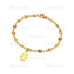 pulsera con chica de dorado en acero para mujer-SSBTG1094329
