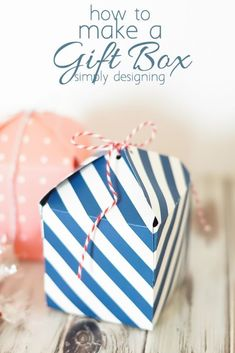 How to Make a Gift Box - this is so simple but so cool!  Also check out this exclusive collection from @weronthenet and @hsn #spon