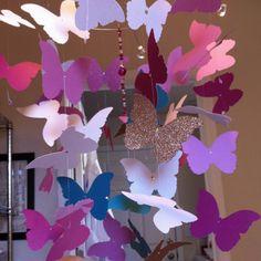 Handmade butterfly mobile