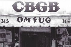 cbgb - if I had a time machine I'd go back there to see the early Talking Heads and Television tonight.