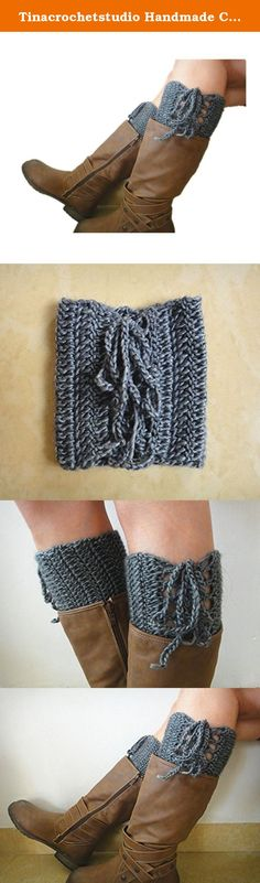 """Tinacrochetstudio Handmade Crochet Boot Cuffs Toppers Gray. We are family business. All items in my shop are all 100% handmade crocheted in a pet-free, smoke-free, clean home. Every item was uniquely crocheted with love. We hope you may love them as we do. Measured about 12""""-14"""" in calf circumference and 5.5-6"""" in length. Black, gray, beige, ivory colors are available. If you need them to be made in a different color or size. Pls feel free to request a custom order. thanks."""