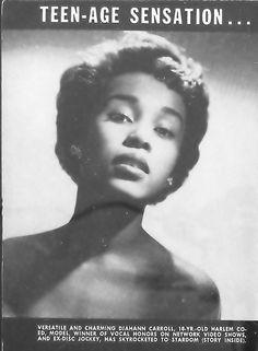 Teen-age Sensation, Diahann Carroll - Brown Magazine, May, 1954