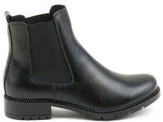 Czarne sztyblety - AKARDO.pl - Porządne buty robione w Polsce Chelsea Boots, Ankle, Shoes, Fashion, Moda, Zapatos, Wall Plug, Shoes Outlet