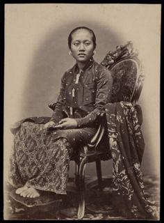 Raden Ajoe,  Solo, Java, Indonesië (1862)