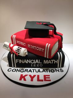 Text Book Graduation Cake