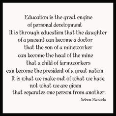 Education and our nation