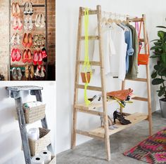 10 Awesome Ideas to Organize with Ladders - http://www.amazinginteriordesign.com/10-awesome-ideas-organize-ladders/