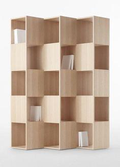 Bookcase / nendo. With crates: