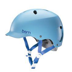 Sky blue Bern bicycle helmet