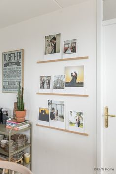 DIY fotowand eetkamer OUR Wedding photowall with XL polaroids ©BintiHome