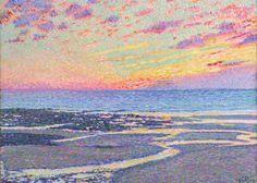 Montreal Museum of Fine Arts   Van Gogh to Kandinsky Théo van Rysselberghe, Beach at Low Tide, Ambleteuse, Evening, 1900.