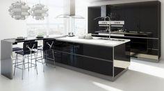 Quando se trata de decoração moderna e clean, olha eu aqui!!! rsrs... amo, e nas cozinhas não poderia ser diferente, esse estilo é a tendê...