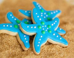Sea Star Cookies as a Beach Theme Party Favor