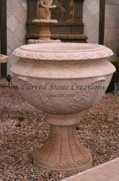 This elegant stone planter is a beautiful addition to any garden! Click on the picture to take a closer look. #Stone #Home #Decor #Landscape #Planter #Garden