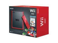 Nintendo Wii mini - Game console - red - Mario Kart Wii