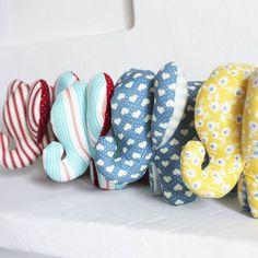 Ribambelle... J'ai terminé deux petits éléphants ! Ils rejoindront la boutique en fin de semaine !  #elephant #peluche #doudou #fluffy #couture #cousette #sewing #patron #faitmain #handmade #madeinfrance #lesenchantees Elephant Peluche, Slippers, Crochet, Pattern, Kids, Jai, Creations, Store, Fabric Crafts