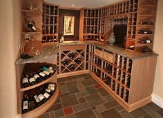 Dream wine cellar.