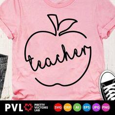 Teacher Appreciation Gifts, Teacher Gifts, Teaching Shirts, Teacher T Shirts, Teaching Art, Cute Shirt Designs, School Shirt Designs, School Shirts, Back To School Teacher