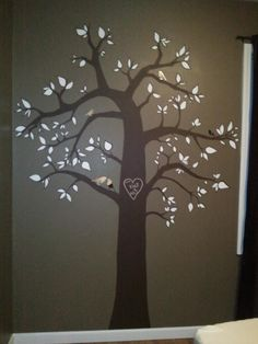 My tree mural & mirrored birds. Done! ... Uploaded with Pinterest Android app. Get it here: http://bit.ly/w38r4m