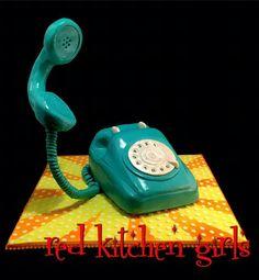 Gravity telephone cake