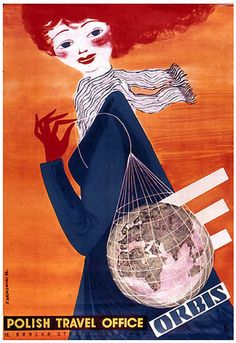 Poland #vintage #travel #poster