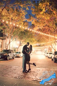 Nighttime Shoot!! Just because the sun goes down, doesn't mean your shoot has to end... Find a photographer who is comfortable shooting at night for romantic pictures.