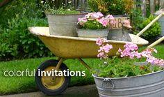 I've got the wheelbarrow and the pails and tub. Now to spray paint the wheelbarrow!