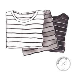 Good objects - Striped tees #goodobjects #illustration