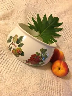 Items similar to Portmeirion Pomona Bowl Vintage Botanical Fruit Ceramic Ovenware Casserole Dish Portmeirion Pottery England Designed by Susan Williams Ellis on Etsy Vintage Antiques, Vintage Items, Portmeirion Pottery, William Ellis, Dining Ware, English Pottery, Handmade Sterling Silver, Casserole Dishes, 1980s
