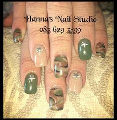 Army camo nail art