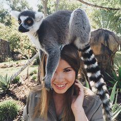 "Bindi Irwin, the daughter of Steve Irwin the ""Crocodile Hunter"" She is turning 17 next month and plans to work full time at the Australia Zoo."