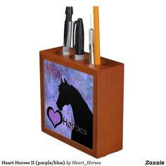Heart Horses II (purple/blue) Desk Organizers