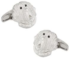 Saint Bernard Cufflinks by Cuff-Daddy. Saint Bernard Cufflinks. Arrives in hard-sided, presentation box suitable for gifting. Covered by Cuff-Daddy's manufacturer product warranty. Skillfully crafted from high quality materials. A Perfect Accessory for your French Cuff Shirt.
