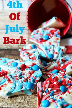 4th of July bark. Just needs some pretzels
