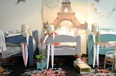 rag dolls and beds by minina loves Rag Dolls, Beds, Kids Room, Toddler Bed, Creatures, Paris, Handmade, Furniture, Home Decor