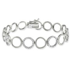 Sterling Silver Diamond-Accent Circle Link Bracelet Amazon Curated Collection. $49.00. Clean with a soft damp cloth