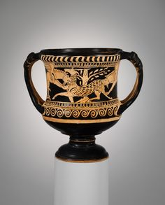 Terracotta kantharos (drinking cup) | Etruscan | Late Classical | The Metropolitan Museum of Art