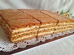 mézeskalács szelet receptje, finom és gyorsan elkészíthető többlapos sütemény, karácsonyi sütemény, képes recept, Kocsis Hajnalka receptje