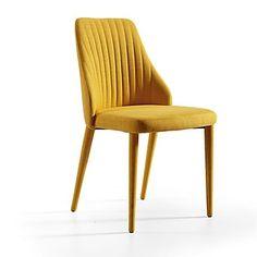 lot de 6 #chaises en tissu jaune #Alinéa