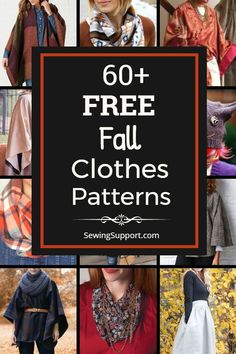 free sewing patterns, tutorials, and diy sewing projects for the fall season. Diy Clothes Patterns, Sewing Patterns Free, Free Sewing, Sewing Clothes, Fall Sewing Projects, Sewing Projects For Beginners, Sewing Hacks, Sewing Tutorials, Sewing Tips