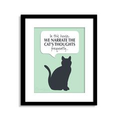 Funny Cat Wall Art   Cat Print   Cat Art   Cat Decor   Cat Poster