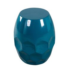 Teal Honeycomb Metal Side Table - 1800315013