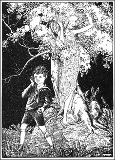 Longlegs (To E.T) - Down-Adown-Derry; A book of Fairy Poems by Walter De La Mare; published by Constable & Co, 1922