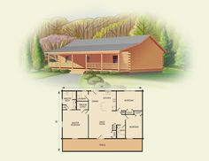 springfield II log home and log cabin floor plan