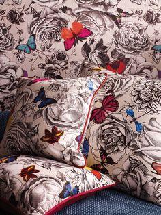Butterfly Garden fabric and wallpaper by Osborne & Little www.osborneandlittle.com